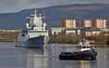 KNM Thor Heyerdahl and Bruiser (F314) passing Braehead - 11 April 2014