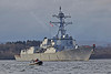 USS James E William (DDG95) at Rhu Spit - 28 March 2014