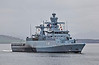 FGS Magdeburg (F261) passing East India Harbour - 7 April 2014