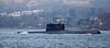 'HNoMS Utsira' (S301) passing Rhu Spit - 31 March 2014