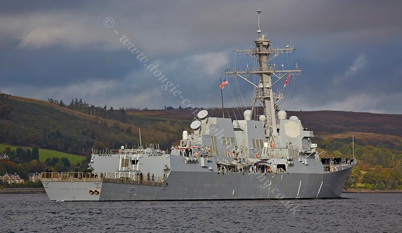 USS Jason Dunham (DDG109) at Rhu Spit - 2 October 2014