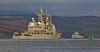 USS Vicksburg and HMS Tyne (CG69) at Rhu Spit - 2 October 2014