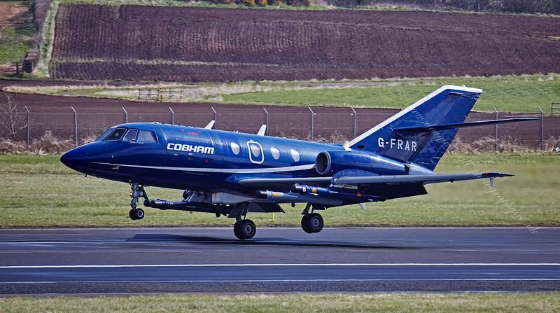 Dassault Falcon 20DC (Cobham ) G-FRAR at Prestwick - 15 April 2015