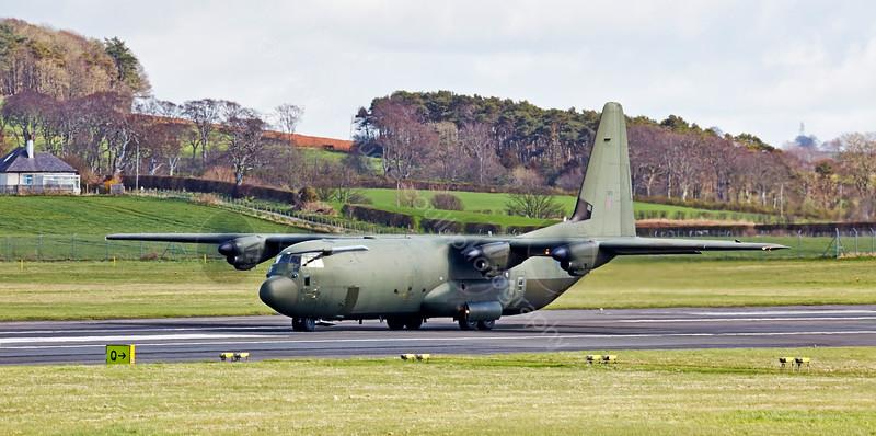 RAF Lockheed Martin C-130J-30 Hercules II ZH870r at Prestwick - 15 April 2015