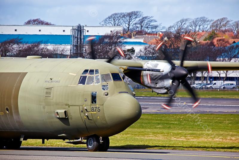 RAF Lockheed Martin C-130J-30 Hercules II ZH875 at Prestwick - 15 April 2015