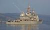 USS Anzio (CG68) bound for Faslane Naval Base - 9 April 2015