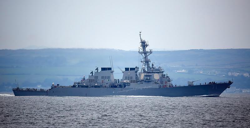 USS Ross (DDG71) passing Wemyss Bay - 2 October 2015
