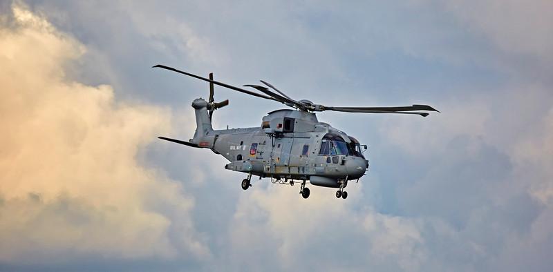 HMS Portland Merlin (ZH839) at Prestwick Airport - 14 October 2015