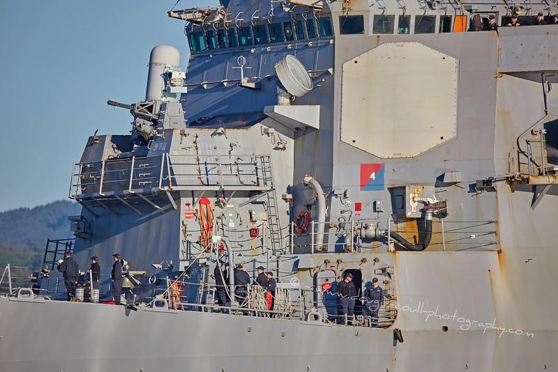 USS The Sullivans (DDG68) at Rhu Spit - 1 October 2015