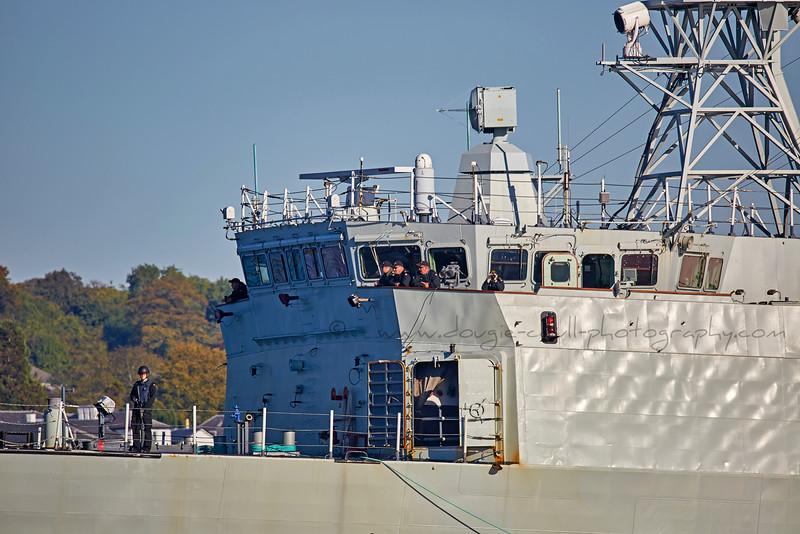 HMCS Montreal (FFH 336) off Rhu Spit - 1 October 2015