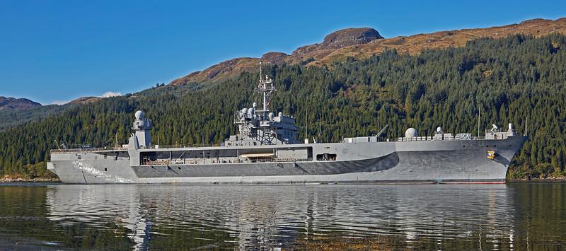 USS Mount Whitney (LCC 20) at Glen Mallan - 17 October 2015