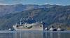 USS Mount Whitney (LCC 20) arriving at Glen Mallan - 17 October 2015