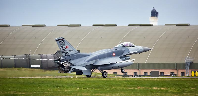 Turkish Air Force Lockheed Martin F-16C Fighting Falcon (07-1005) at RAF Lossiemouth  - 13 April 2016