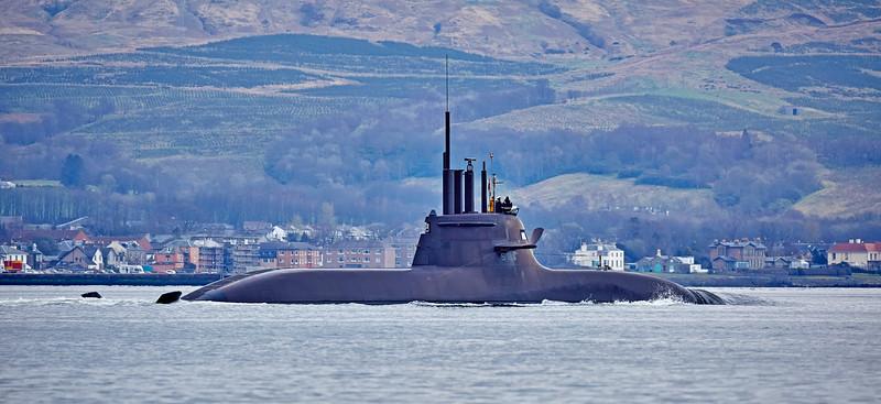 U-Boat U34 (S184) at Rhu - 10 April 2016