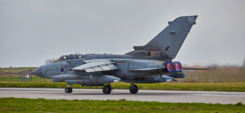 RAF Tornado GR4 (ZD792) at Lossiemouth - 13 April 2016