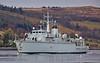 HMS Hurworth (M39) off Rhu Spit - 10 April 2016