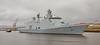 HDMS Esbern Snare (L17) arriving at Braehead in the Rain - 8 April 2016