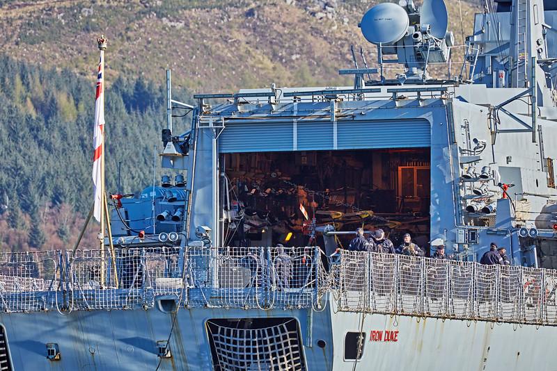 HMS Iron Duke (F234) off Glen Mallan - 21 April 2016