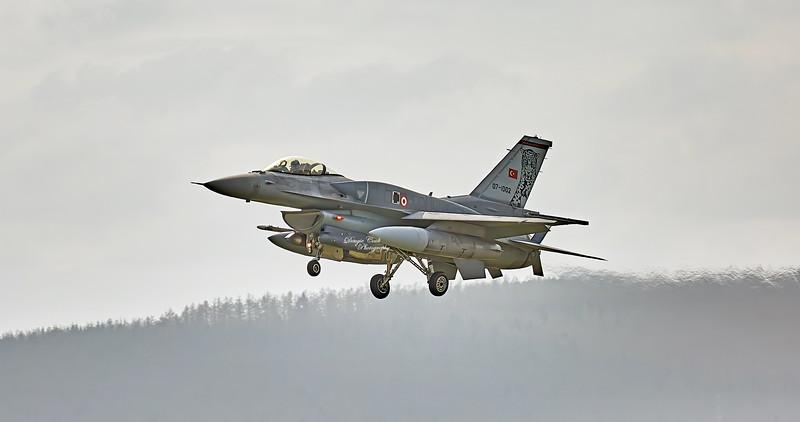 Turkish Air Force Lockheed Martin F-16C Fighting Falcon (07-1002) at RAF Lossiemouth - 12 April 2016