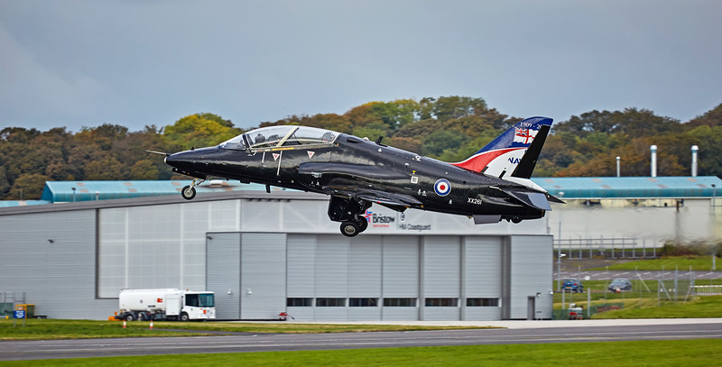 RAF British Aerospace Hawk T.1A (XX261) at Prestwick Airport - 11 October 2016