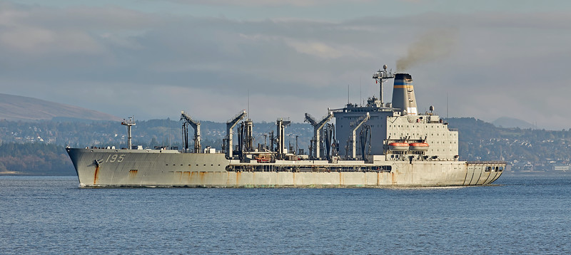 USNS Leroy Grumman (T-AO-195) off Gourock - 22 October 2016