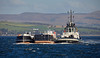 SD Reliable and Barges off - Greenock - 6 October 2016