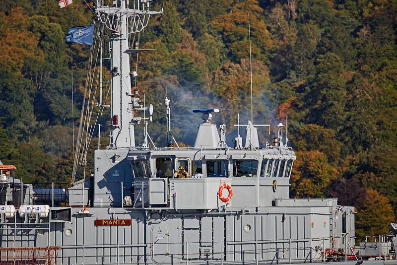 'LVNS Imanta' (M-04) off Rhu - 9 October 2016