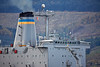USNS Leroy Grumman (T-AO-195) off Cloch Lighthouse - 20 October 2016