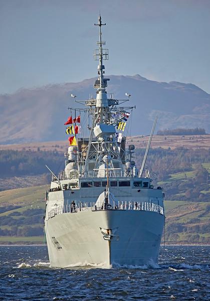 HMCS Charlottetown (FFH 339) off Greenock - 6 October 2016