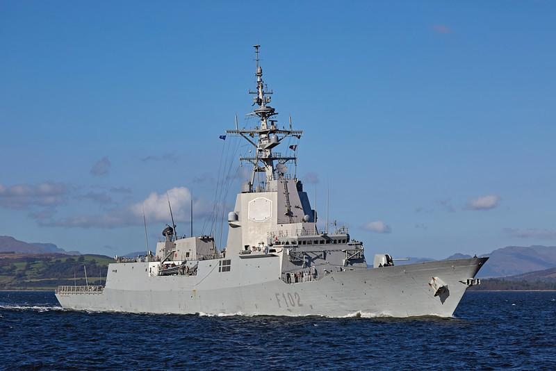 SPS Almirante Juan de Borbon (F102) at Greenock - 6 October 2016