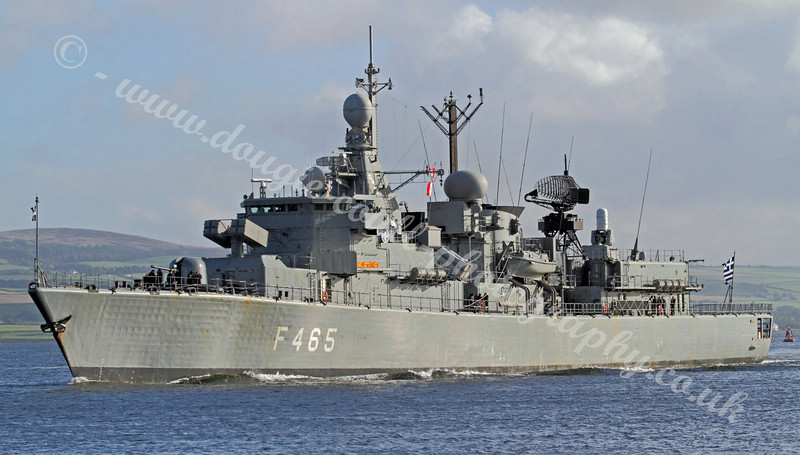 Greek Navy Frigate - HS Themistoklis - F465