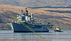Ark Royal - Departs Faslane Naval Base - Ayton Cross Assists