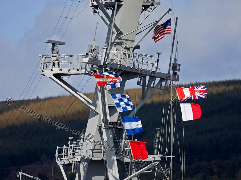 USS Barry (DDG-52) - Flags Flying