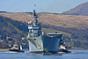 Ark Royal - Departs Faslane Naval Base