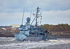 FGS Siegburg (M1098) passing Custom House Quay - 22 March 2017