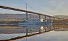 BNS Godetia (A960) passing Erskine Bridge - 24 March 2017