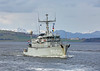 HNLMS Schiedam (M860) passing Greenock - 23 March 2017