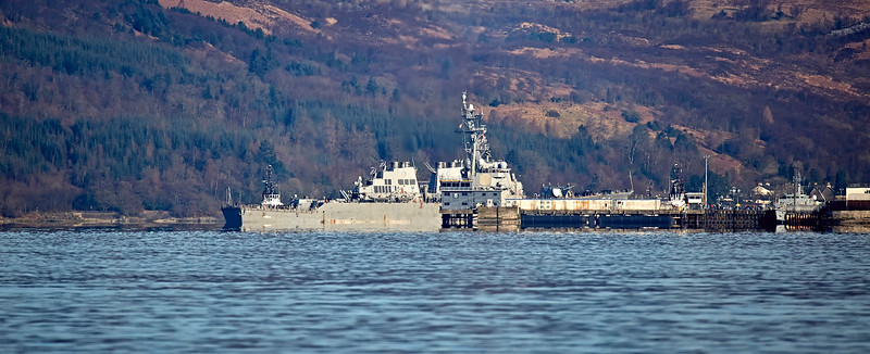 USS Carney (DDG75) at Faslane Naval Base - 26 March 2017
