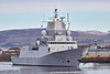 HnoMS Roald Amundsen (F311) passing Braehead - 22 March 2017
