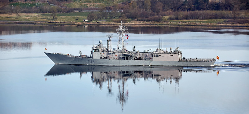SPS Reina Sofia (F84) at Langbank - 26 March 2017