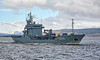 FGS Donau (A516) passing Custom House Quay - 22 March 2017