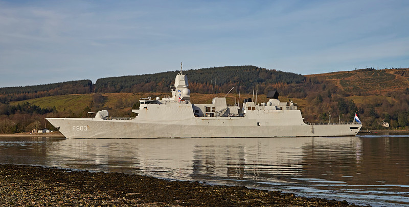 HNLMS Tromp (F803) at Rhu - 26 March 2017