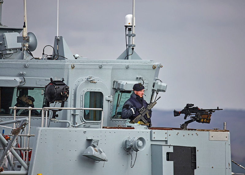'HMS Ramsey' (M110) off Greenock - 23 March 2017