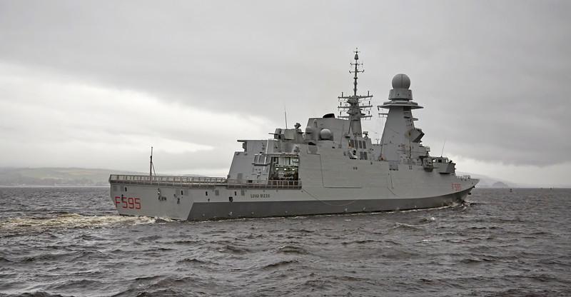 ITS Luigi Rizzo (F595) at Port Glasgow - 16 October 2017