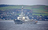 USS McFaul (DDG-74) at Cloch Lighthouse, Gourock - 12 October 2017