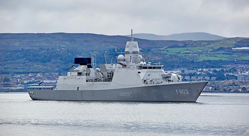 'HNLMS Tromp' (F803) at Rhu - 28 September 2017