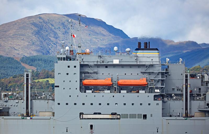 USNS Medgar Evers (T-AKE-13) off Cloch Point, Gourock - 21 September 2017