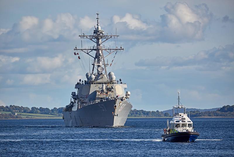 USS Mitscher (DDG-57) at Rhu Spit - 21 September 2017