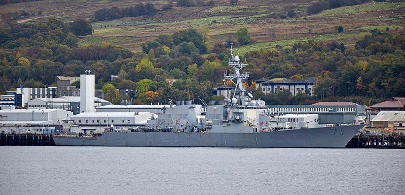 USS McFaul (DDG-74) at Faslane Naval Base - 9 October 2017