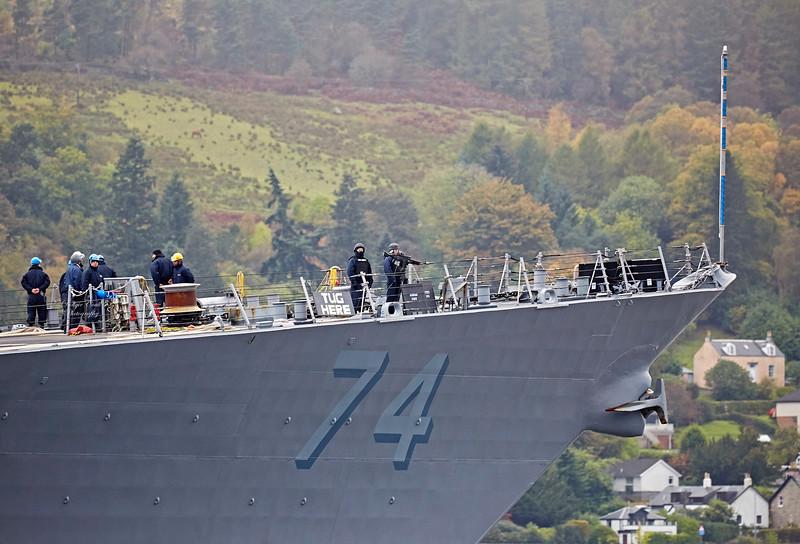 USS McFaul (DDG-74) off Rhu Spit - 9 October 2017